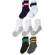 Stride Rite Calcetines de tubo para niño (7 unidades), Variados, Zapato: 7-10 US