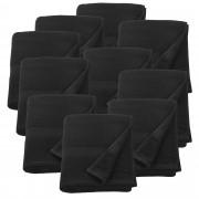 [neu.haus]® 10 x Toallas de rizo para Invitados - 100 x 150 cm - Set de toallas de baño - Paño - Toalla de sauna grande - 100% algodón - 450 g/m² - Negro