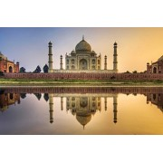 Sim,Handmade Premium Basswood Jigsaw Puzzle 1000 Piece Bright Color Famouse Painting 29.5 X 19.6 inch Nobleness Present in Box Present-Wrap : Taj Mahal