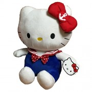 Hello Kitty in Sailor Costume Plush, Multi Color (25cm)