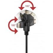 Cavo HDMI Highspeed con Ethernet A/A M/M Ruotabile 2 m