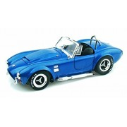 1966 Shelby Cobra Super Snake Convertible, Blue - Shelby SC125 - 1/18 Scale Diecast Model Toy Car