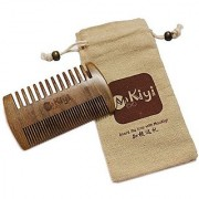 MooKiYi Handmade Green Sandalwood No Static Fine / Coarse Wide Toothed Pocket Comb Brush Beard and Mustache Comb Hair B
