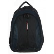 3 részes fekete-kék textil hátizsák Adventurer