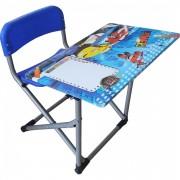 Birou pliabil pentru copii, dimensiuni 70X60X66 cm, cadru metalic, Plane Albastru