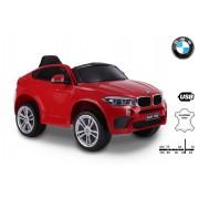 Mașină electrică BMW X6M NOU -roșu, roți EVA, scaun din piele, 12V, 2,4 GHz DO, 2X MOTOARE, USB, card SD, licență ORIGINALĂ