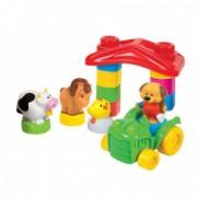 Set cuburi constructie moi si parfumate pentru bebelusi Clemmy - Ferma vesela a animalelor