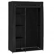 [neu.holz]® Преносим гардероб от текстил Dortmund 160 x 105 cm , Черен