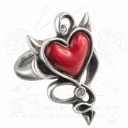 prsten ALCHEMY GOTHIC - Vrag Heart - ULFR6