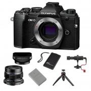 Olympus OM-D E-M5 Mark III Svart Vlogg-kit