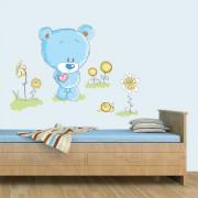 Stickere perete copii Ursuletul fericit - 117 x 90 cm