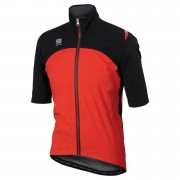 Sportful Fiandre Windstopper LRR Short Sleeve Jacket - Red/Black - S - Red