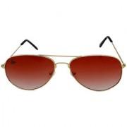 Abloom Men's Brown Aviator Free-size Mirrored Full Rim Sunglasses