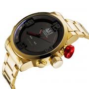 Top Brand ASJ Fashion Digital Watch Men LED Full Steel Gold Mens Sport Quartz-Watch Military Army Male Watches relogio masculino