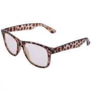 Silver Kartz Luxury Brown Wayfarer Rectangular Sunglasses (Clear)