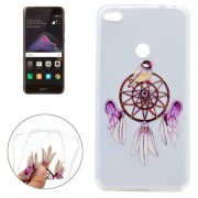 For Huawei P8 Lite (2017) Purple Wind Bell Pattern Soft TPU Protective Case