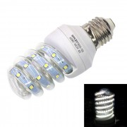 E27 5W espiral cristal LED lampara luz blanca fria 6000K 390lm 24-2835 SMD