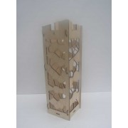 Personalised wooden gift laser-cut wine box.