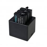 Sonstige Marke 3-fach USB Akku Ladegerät für GoPro Hero 6 Black / Hero 5