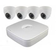 Kit Videosorveglianza LKM Security PoE con 4 Telecamere da Interno in alta definizione
