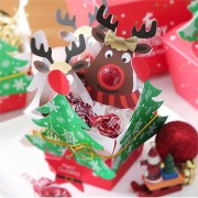 25 PCS Cute Reindeer Lollipop Paper Card Decorations Christmas Candy Gift Decor