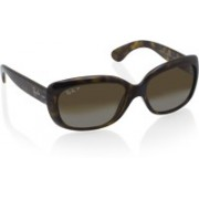Ray-Ban Rectangular Sunglasses(Brown)
