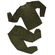 Mil-Tec Thermo Fleece Underställ Tröja & Byxa (Färg: Oliv, Storlek: Large)