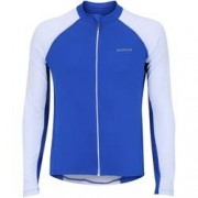 Curtlo Camisa de Ciclismo Manga Longa Curtlo Sprinter - Masculina - AZUL/BRANCO