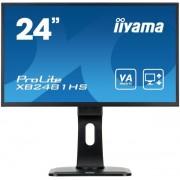 "Monitor VA LED iiyama 23.6"" ProLite XB2481HS-B1, Full HD (1920 x 1080), HDMI, DVI-D, VGA, 6ms, Boxe (Negru)"