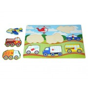 INSTABUYZ Educational Learning Puzzles For Kids   Children Non-Toxic Eco-Friendly Crafted In Wooden Board   Helps In Improving Logical Thinking Skills And Wrist Movement   Improves Child's Colour And Creature Identification Skill   Learn With Fun Creative