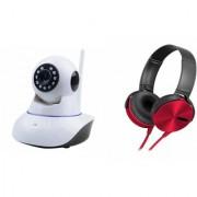 Mirza Wifi CCTV Camera and Extra Extra Bass XB450 Headset for SAMSUNG GALAXY S 3 NEO(Wifi CCTV Camera with night vision  Extra Extra Bass XB450 Headset )