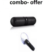 Wireless Bluetooth headset with free wireless FB pill bluetooth portable speaker- assorted colur
