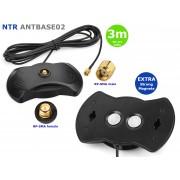 NTR ANTBASE02 WiFi antenna állvány RP-SMA aljzattal (erős mágnes talpas) RG-174 kábellel 3m