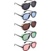 NuVew Wayfarer, Shield Sunglasses(Black, Blue, Brown, Green, Orange)
