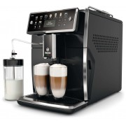 Espressor automat Philips Saeco Xelsis SM7580/00, 15 bari, Latte Perfetto, 12 setări măcinare, 5 setări intensitate,12 băuturi, Filtru AquaClean, 2 ceşti, Recipient lapte 0.6 L, Rezervor apa 1.7 L, Opţiune cafea măcinată, Negru lucios