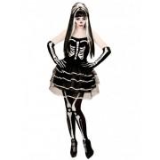 Vegaoo Effektvolles Skelett Kostüm Halloween für Damen