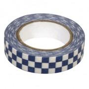 Rayher hobby materialen Washi tape blauwe blokjes
