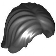 LEGO Minifigure Hair: Mid-Length Tousled with Center Part (Black)