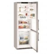Combina frigorifica Liebherr CBNef 5735, 381 L, No Frost, Display, Control electronic, Alarma usa, BioFresh, H 201 cm, A+++, Inox, finisaj Antiamprenta
