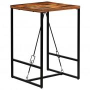 vidaXL Mesa de bar em madeira reciclada maciça 70x70x106 cm