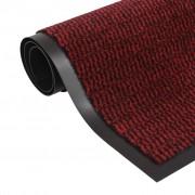 vidaXL négyszögletes szennyfogó szőnyeg 80 x 120 cm piros