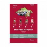 Canon Photo Paper Variety-Pack VP-101 10x15cm 21x29.7cm A4 20 listova 5x High Gloss S 5x Semi Glosy S 5x Matte A4 5x Glossy A4 komplet foto papir za ispis fotografije VP101SA4 BS0775B079AA BS0775B079AA