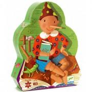 Puzzle silueta - Pinocchio, 50 piese