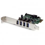Tarjeta Startech PCI Express PCI-E USB 3.0 con UASP 4 Puertos Alimentación SATA