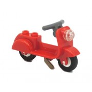 LEGO Parts; Red Scooter with Headlight