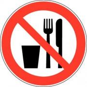 Verbodsbord - ''''Verboden te eten en drinken'''' - Zelfklevend