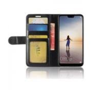 Huawei P20 Lite Hoesje met Kaarthouder Zwart