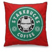 Almofada Homem de Ferro Marvel StarkBucks Coffee Café