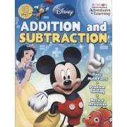 Disney Pixar Addition and Subtraction 32 Page Workbook Learn Basic Math Skills with Disney Character