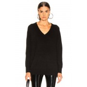 Equipment Asher Cashmere V Neck in Black. - size S (also in M,XS)
